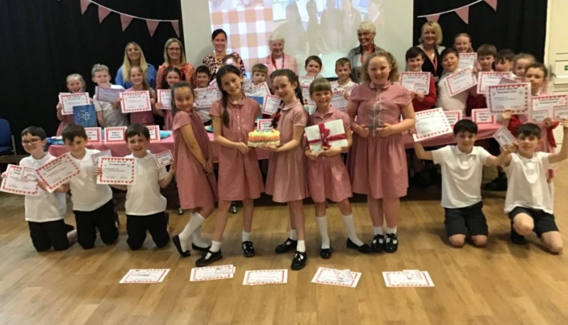The winning Year 4 class with the judges and class teacher